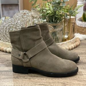 DKNY Suede Leather Moto Ankle Boots Size 7